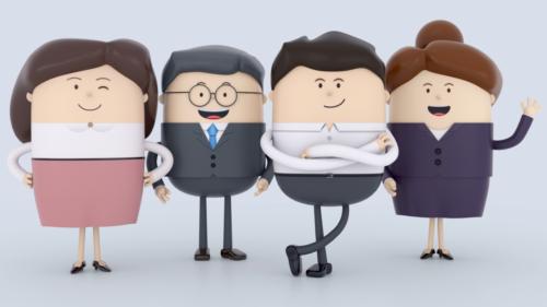 ビジネス 3Dキャラクター
