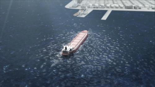 石油タンカー 3D CG