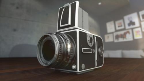 レトロカメラ 3D CG